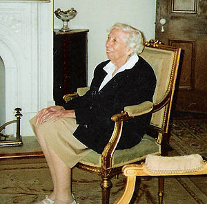Eudora Welty sits at Waverly, Columbus, MS 1988. Photo courtesy of Nancy Hargrove