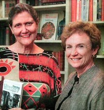 Photo above by Joe Ellis: Authors Patti Carr Black and Marion Barnwell