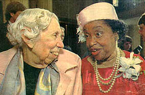Eudora Welty and Margaret Walker, Photo by Rick Guy/The Clarion-Ledger, Jackson, MS