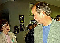 Grisham with fan. Photo by N. Jacobs