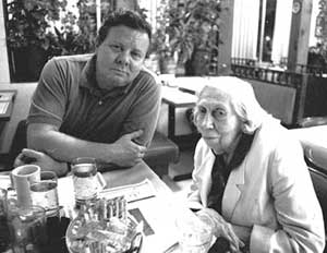 Willie Morris and Mississippi writer Eudora Welty (courtesy of David Rae Morris)