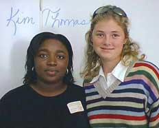 Kim Thomas, Mississippi poet, and Betsy Ball, SHS researcher. Photo by N. Jacobs