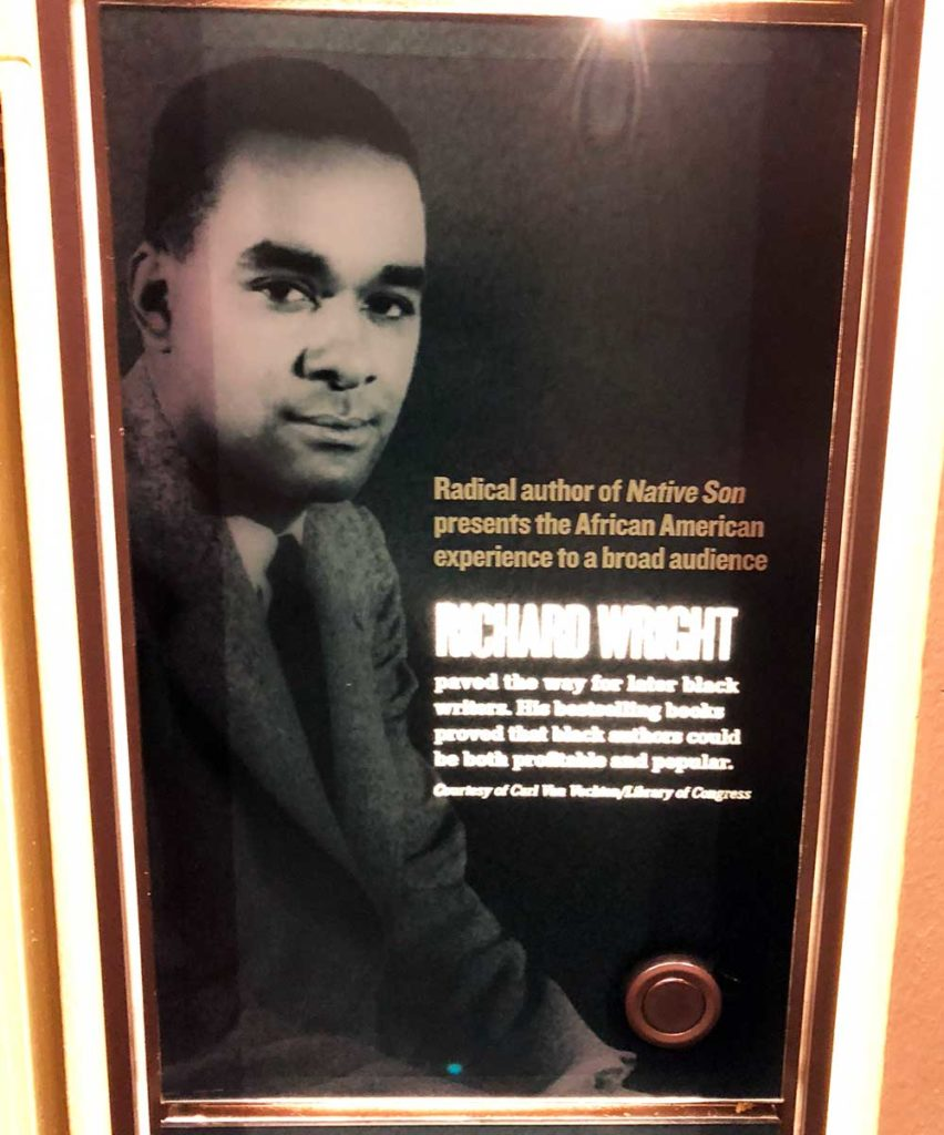 Panel on Richard Wright, from the National Civil Rights Museum in Memphs, TN. Photo by K. Jacobs